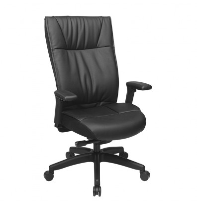 Office Star Contemporary Leather High-Back Executive Office Chair