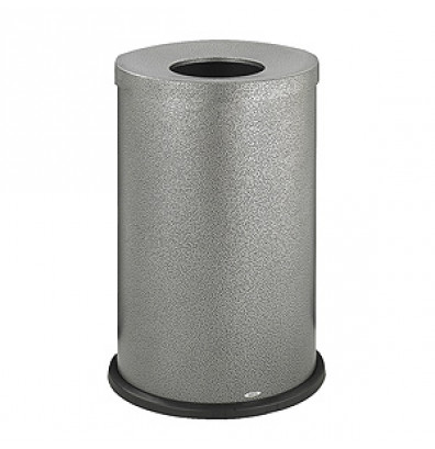 Safco Open Top Receptacle, 35 gal., Black Speckle