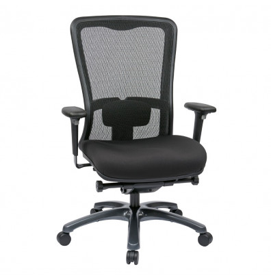Office Star Pro-Line II ProGrid Mesh-Back FreeFlex Fabric High-Back Executive Office Chair