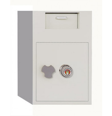 Phoenix 992 3.48 Cubic Foot Front Loading Combination Lock Depository Safe with Interior Safe