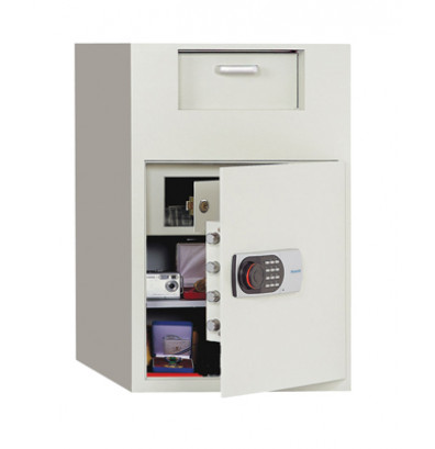 Phoenix 992E 3.48 Cubic Foot Front Loading Electronic Lock Depository Safe with Interior Safe