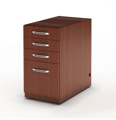 Mayline Aberdeen APBBF26 4-Drawer Pencil/Box/Box/File Suspended Desk Pedestal Cabinet (Shown in Cherry)