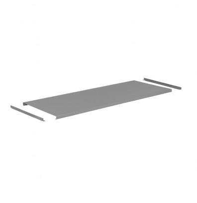 "Tennsco G-T-3672 Steel Workbench Top without Stringer (72"" W x 36"" D) - Shown in Medium Grey"