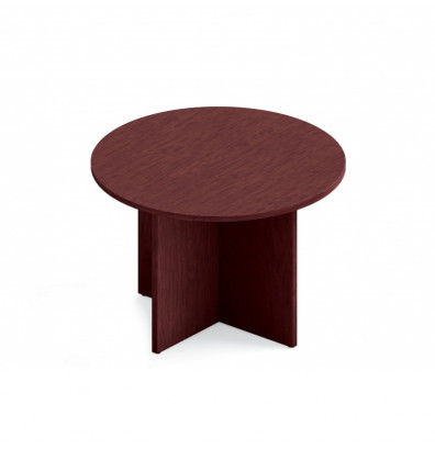 Global GCH Round Conference Table Mahogany - Round conference table for 4