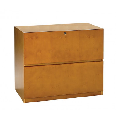 Mayline Luminary LFU23620 2-Drawer Unfinished Top Lateral File (Shown in Maple)