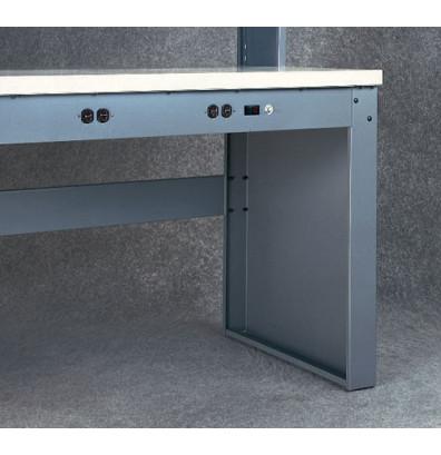 Tennsco LP-3230 Panel Legs for Electronic Workbenches (Shown in Medium Grey)