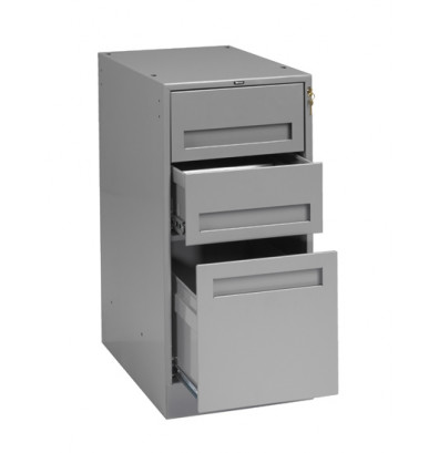 Tennsco MD3-1524 Drawer Cabinet with 2 Box Drawers & 1 File Drawer (Shown in Medium Grey)