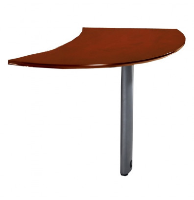 "Mayline Napoli NEXTL 47"" W Curved Desk Extention, Left (Shown in Sierra Cherry)"