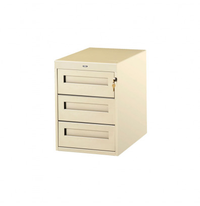 "Tennsco PED-30-36 Hanging 3-Drawer Unit (36"" D Workstation) - Shown in Sand"