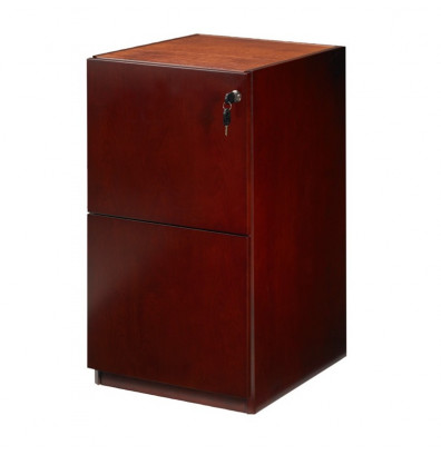 Mayline Luminary PFF19 2-Drawer File/File Pedestal Cabinet for Credenza/Return (Shown in Cherry)
