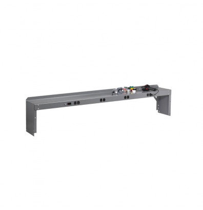 """Tennsco REI-1060-WK-1 Pre-Wired Electronic Riser with End Supports (60"""" W) - Shown in Medium Grey"""