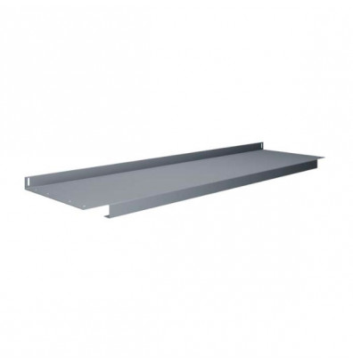 "Tennsco S-72 Lower Shelf (72"" W x 14"" D) - Shown in Medium Grey"