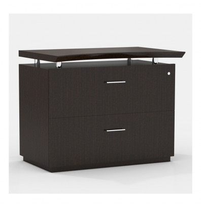 """Mayline Sterling STELF 36"""" 2-Drawer Lateral File (Shown in Mocha)"""