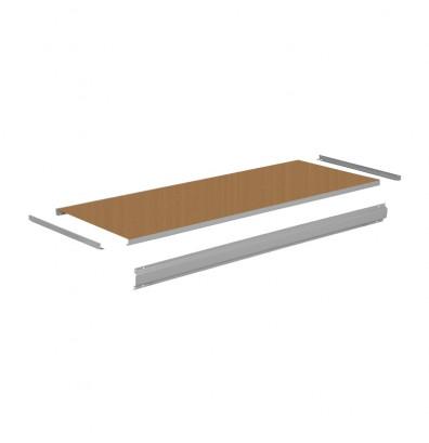 "Tennsco THB-3060 Steel with Hardboard Workbench Top with Stringer (60"" W x 30"" D) - Shown in Medium Grey"