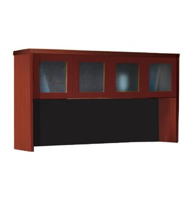 "Mayline Aberdeen AHG72 72"" W Hutch with Glass Doors (cherry)"