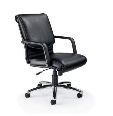 Mayline Mercado Alliance AL Genuine Leather Mid-Back Executive Office Chair
