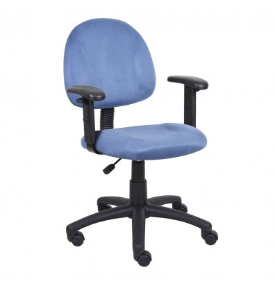 Boss B326 Deluxe Microfiber Mid-Back Posture Task Chair (Shown in Blue)