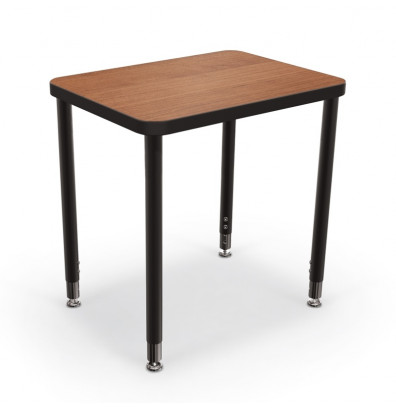 "Balt Snap 24"" x 18"" Small Rectangle Height Adjustable Student Desk (Amber Cherry)"