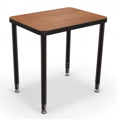 """Balt Snap 24"""" x 18"""" Small Rectangle Height Adjustable Student Desk (Shown in Amber Cherry)"""