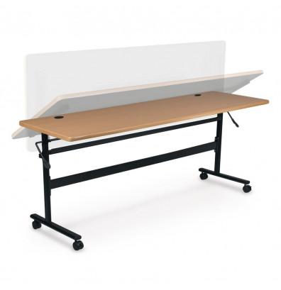 """Balt Economy 60"""" W x 24"""" D Nesting Flipper Training Table (Shown in Teak)"""