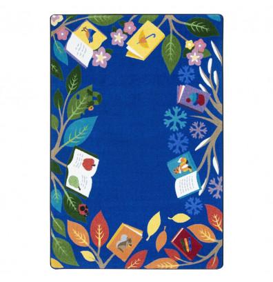 Joy Carpets Books For All Seasons Rectangle Classroom Rug