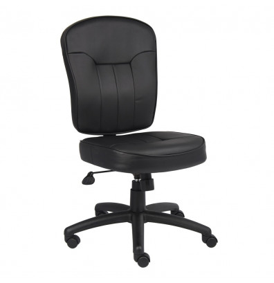 Boss B1560 LeatherPlus Mid-Back Task Chair