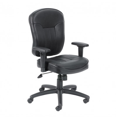 Boss B1561 Wild Arm LeatherPlus Mid-Back Task Chair