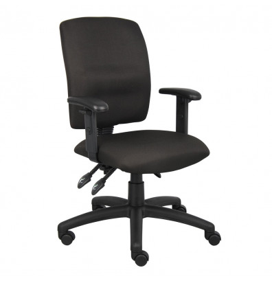 Boss B3036 Multifunction Crepe Fabric Mid-Back Task Chair