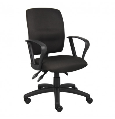 Boss B3037 Multifunction Crepe Fabric Mid-Back Task Chair
