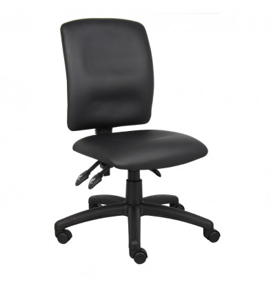 Boss B3045 Multifunction LeatherPlus Mid-Back Task Chair
