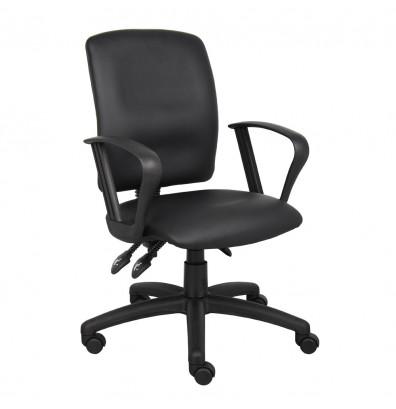 Boss B3047 Multifunction LeatherPlus Mid-Back Task Chair