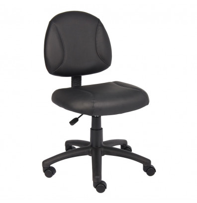 Boss B305 Deluxe LeatherPlus Mid-Back Posture Chair