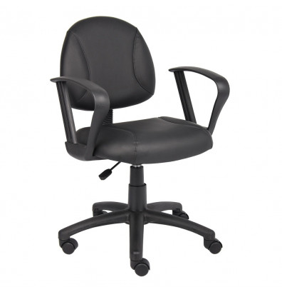Boss B307 Deluxe LeatherPlus Mid-Back Posture Chair