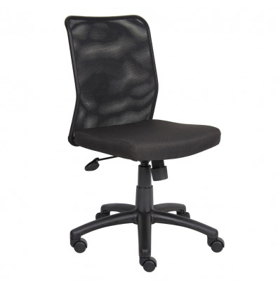 Boss B6105 Mesh-Back Fabric Mid-Back Task Chair