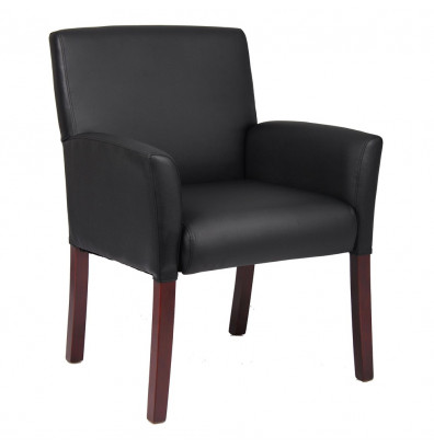 Boss B619 Box Arm Caressoft Mid-Back Guest Chair