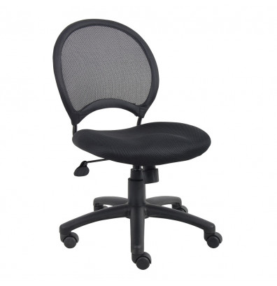 Boss B6215 Mesh-Back Fabric Mid-Back Task Chair