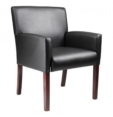 Boss B629M Box Arm Caressoft Mid-Back Reception Guest Chair