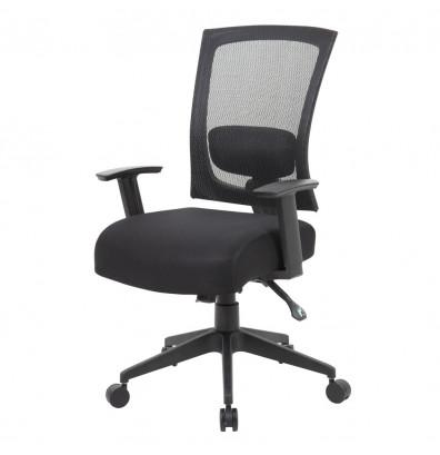 boss b6716 ratchet back mesh back fabric task chair