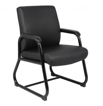 Boss B709 Big & Tall 300 lb. Heavy-Duty CaressoftPlus Mid-Back Guest Chair