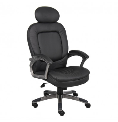Boss B7101 Pillow-Top CaressoftPlus High-Back Executive Office Chair