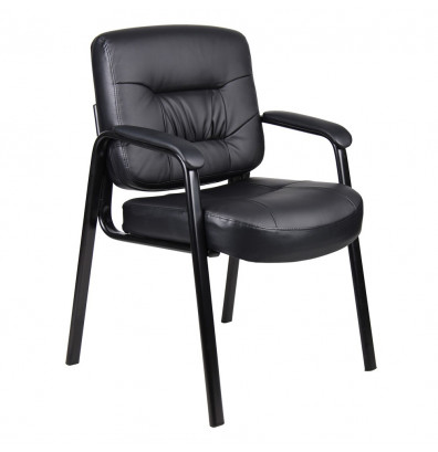 Boss B7509 LeatherPlus Mid-Back Guest Chair