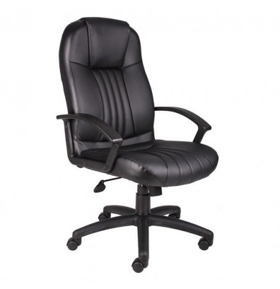 Boss B7641 LeatherPlus High-Back Executive Office Chair