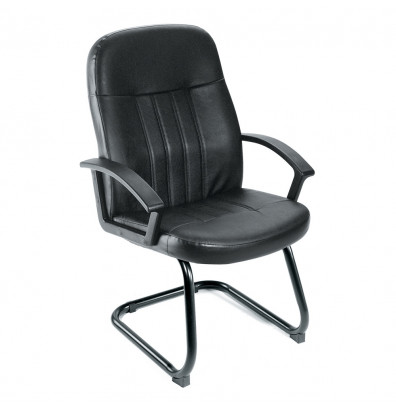 Boss B8109 LeatherPlus Mid-Back Guest Chair