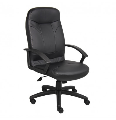 Boss B8401 LeatherPlus High-Back Executive Office Chair