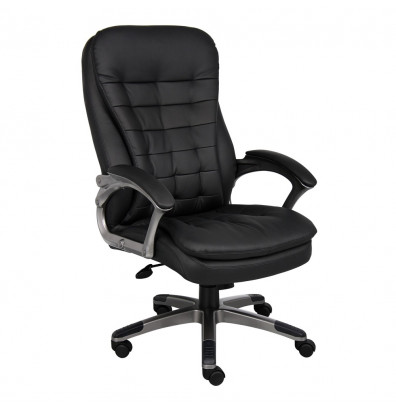 Boss B9331 Pillow-Top CaressoftPlus High-Back Executive Office Chair