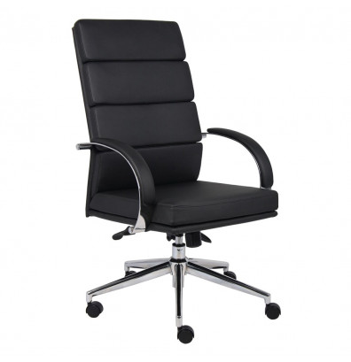 Boss Aaria B9401 CaressoftPlus High-Back Executive Office Chair (Shown in Black)