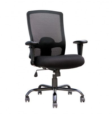 Eurotech BT350 Big & Tall 350 lb. Fabric Mid-Back Executive Office Chair