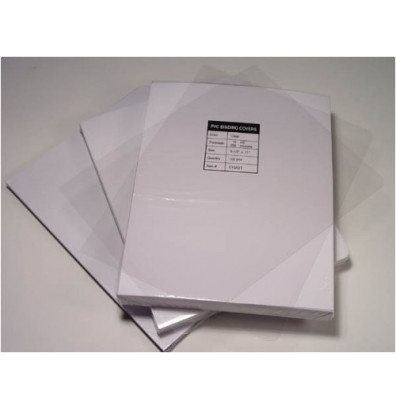 "Akiles 5 Mil 8.75"" x 11.25"" Round Corner With Tissue Interleaving Crystal Clear Binding Covers"