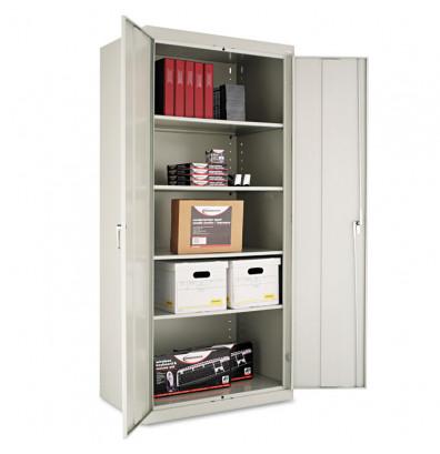 "Alera CM7824LG 36"" W x 24"" D x 78"" H Storage Cabinet in Light Grey, Assembled"