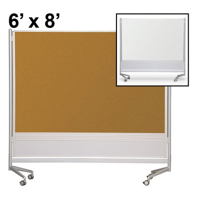 Best-Rite Porcelain/Cork 6 x 8 D.O.C. Mobile Divider Reversible (Both Sides Shown)